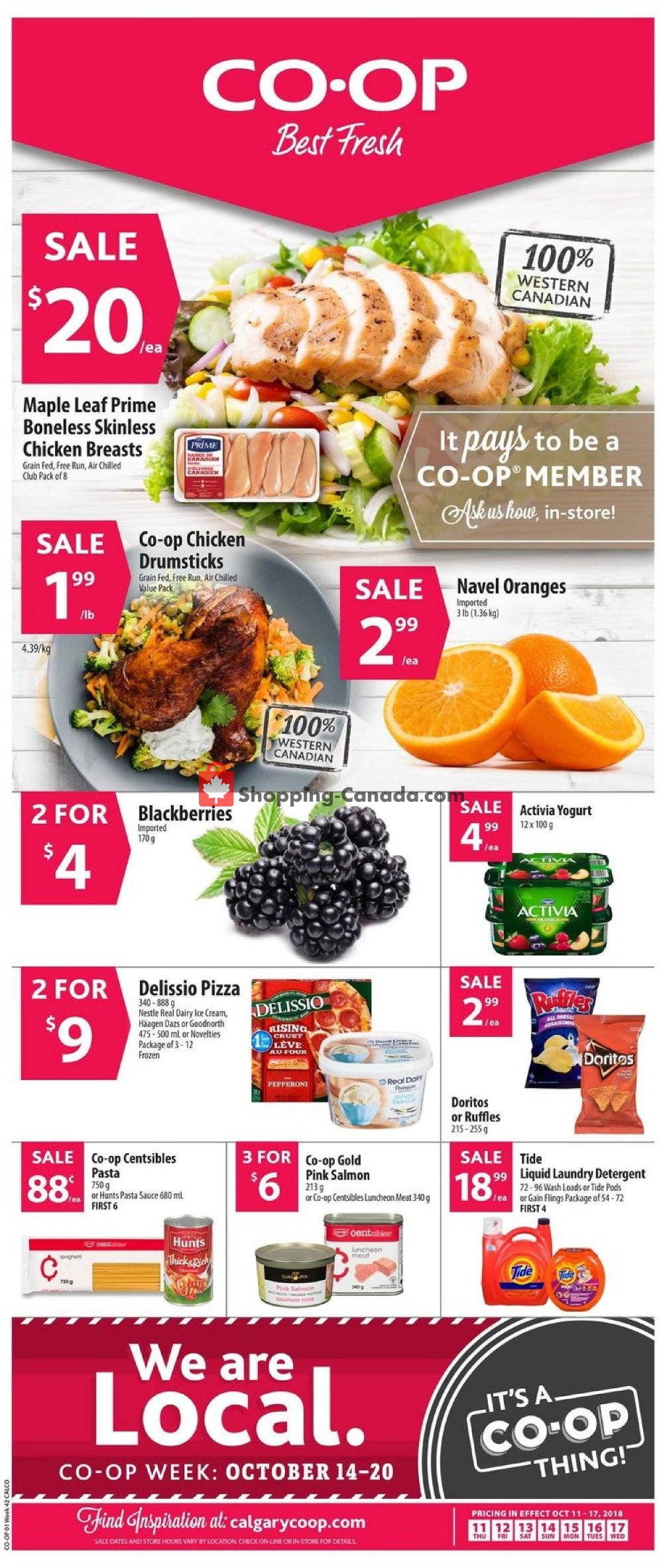 Flyer Calgary Co-op Canada - from Thursday October 11, 2018 to Wednesday October 17, 2018