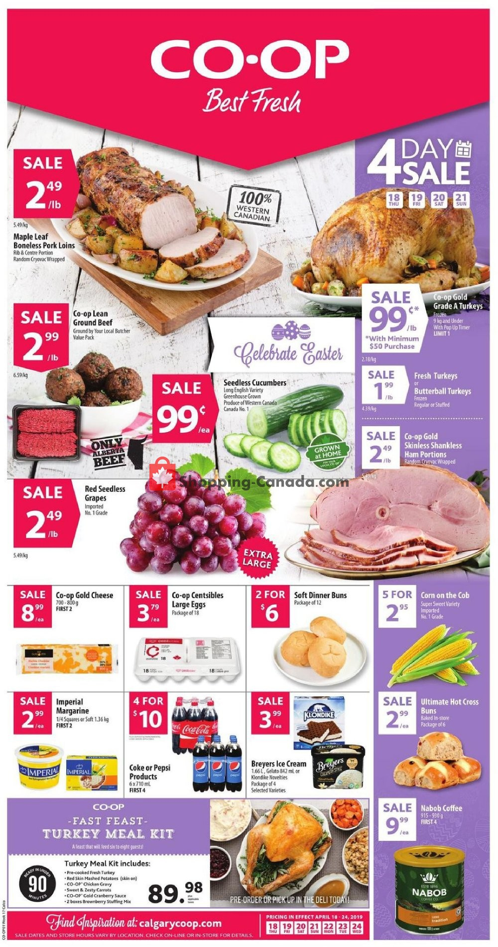 Flyer Calgary Co-op Canada - from Thursday April 18, 2019 to Wednesday April 24, 2019
