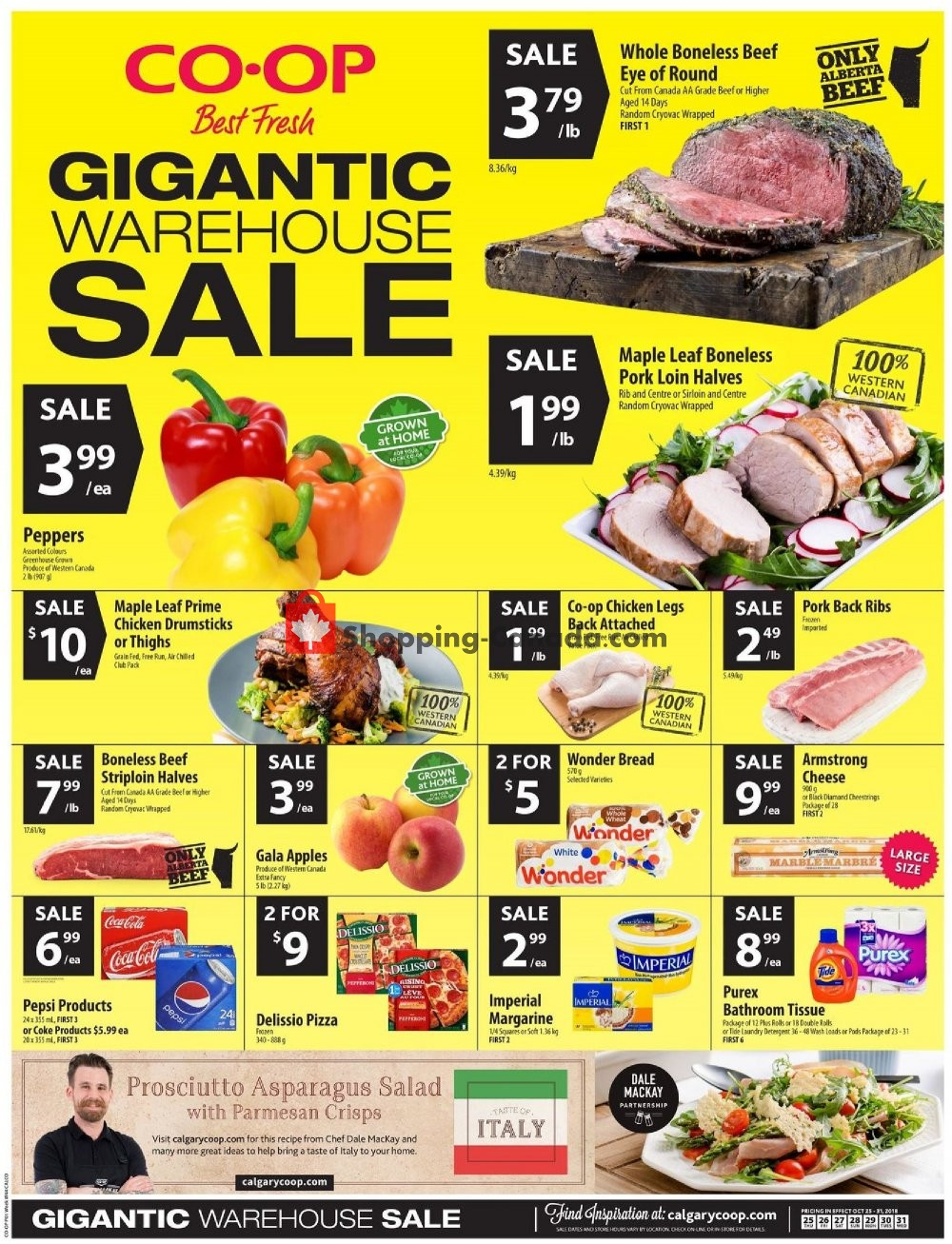 Flyer Calgary Co-op Canada - from Thursday October 25, 2018 to Wednesday October 31, 2018