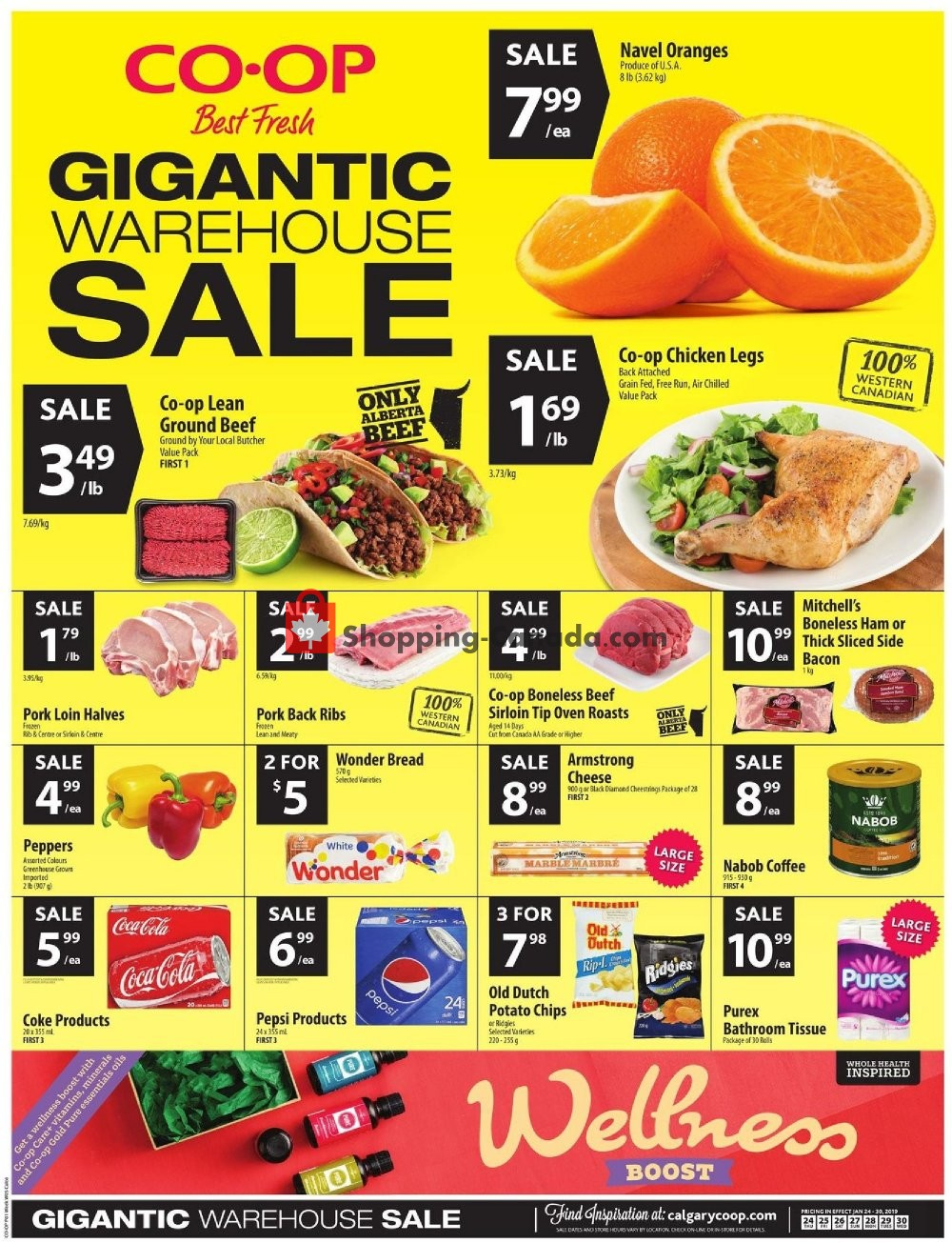 Flyer Calgary Co-op Canada - from Thursday January 24, 2019 to Wednesday January 30, 2019