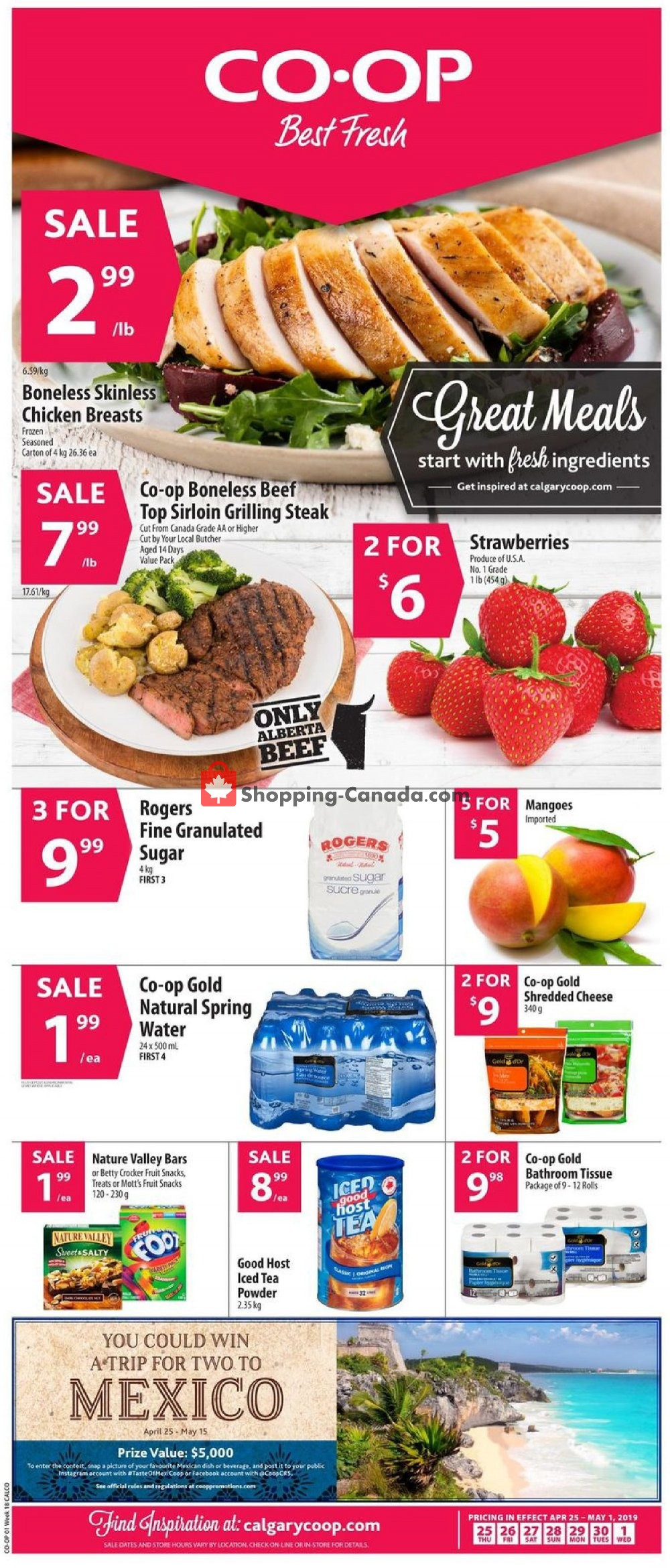 Flyer Calgary Co-op Canada - from Thursday April 25, 2019 to Wednesday May 1, 2019