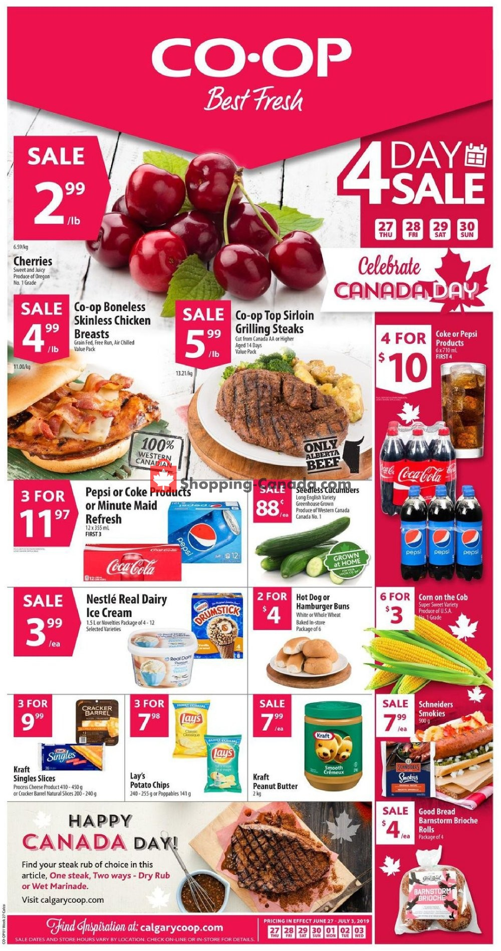 Flyer Calgary Co-op Canada - from Thursday June 27, 2019 to Wednesday July 3, 2019
