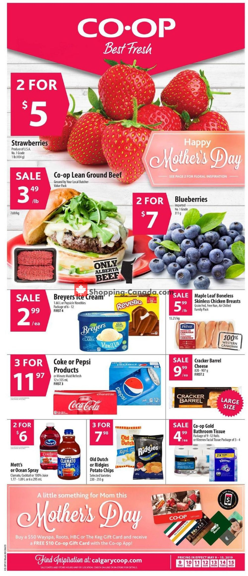 Flyer Calgary Co-op Canada - from Thursday May 9, 2019 to Wednesday May 15, 2019