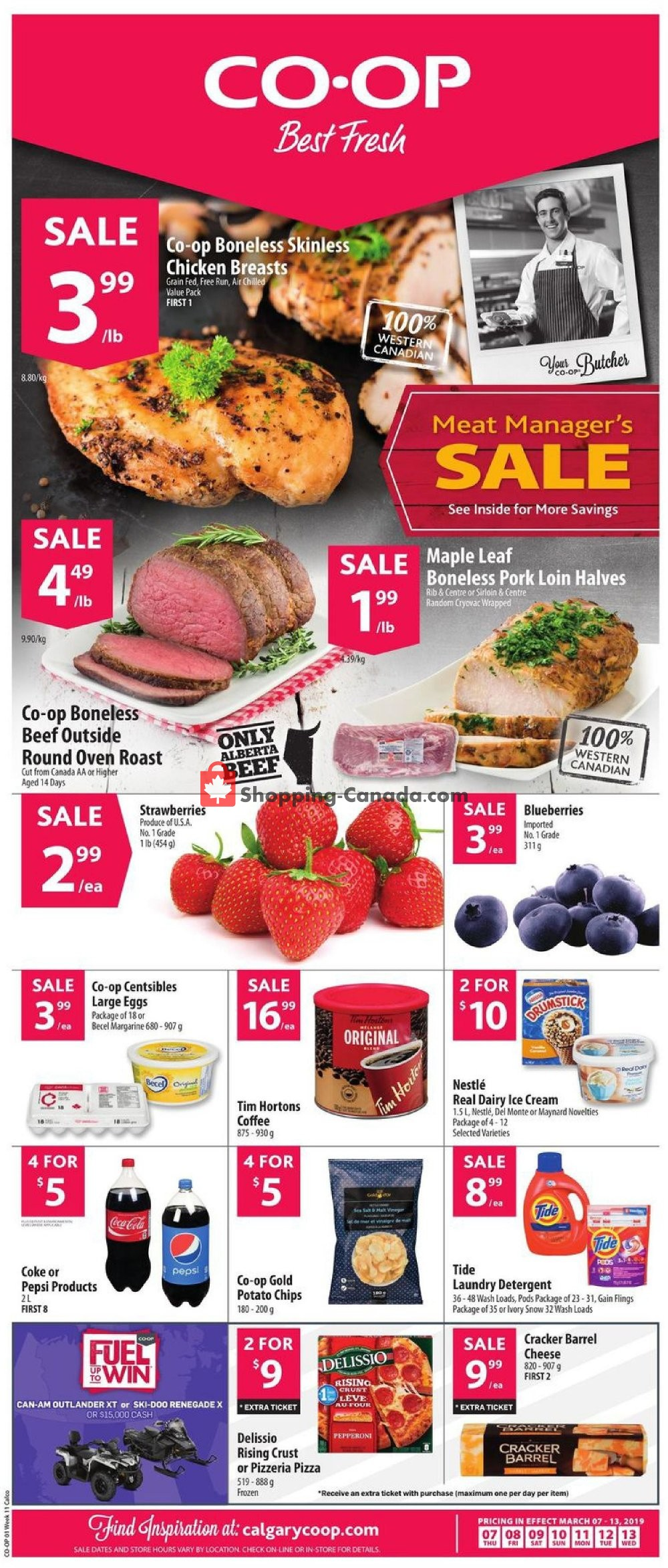 Flyer Calgary Co-op Canada - from Thursday March 7, 2019 to Wednesday March 13, 2019