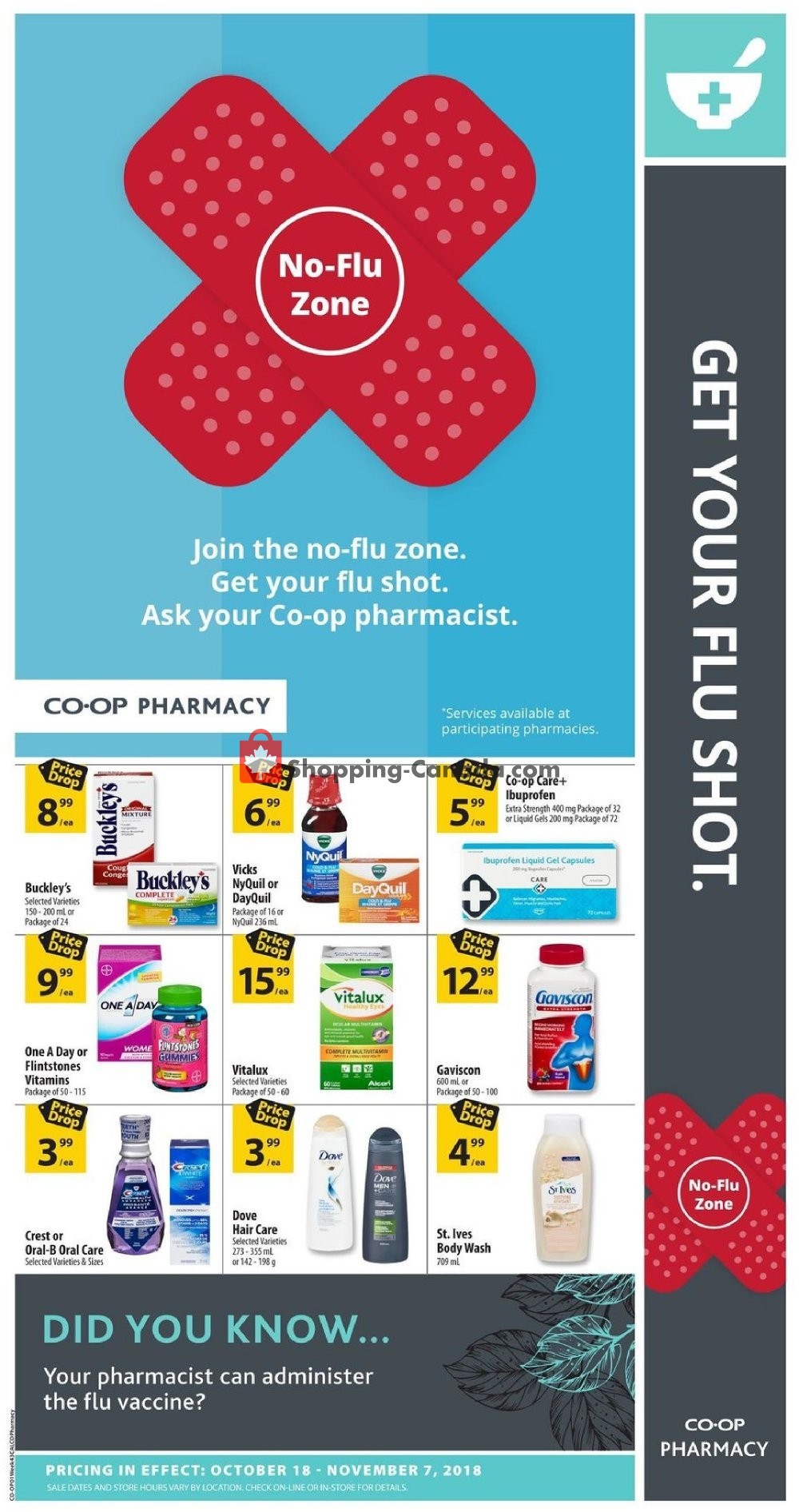 Flyer Calgary Co-op Canada - from Thursday October 18, 2018 to Wednesday November 7, 2018