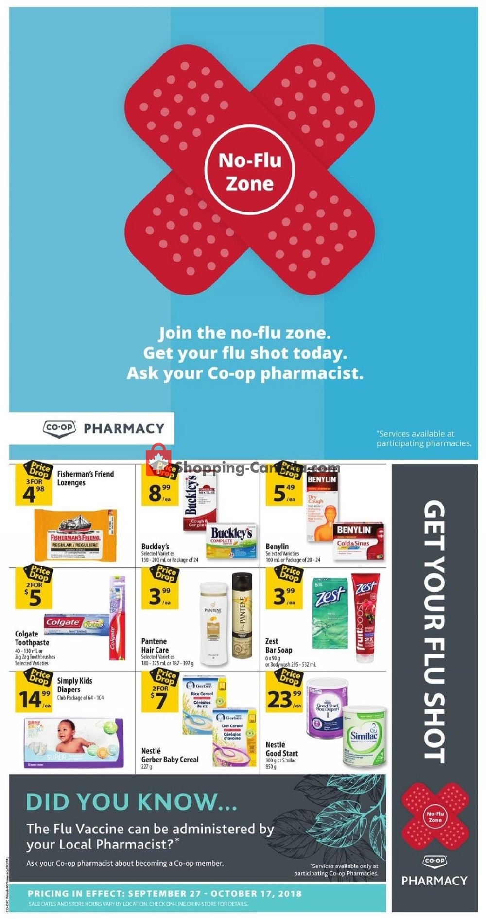 Flyer Calgary Co-op Canada - from Thursday September 27, 2018 to Wednesday October 17, 2018