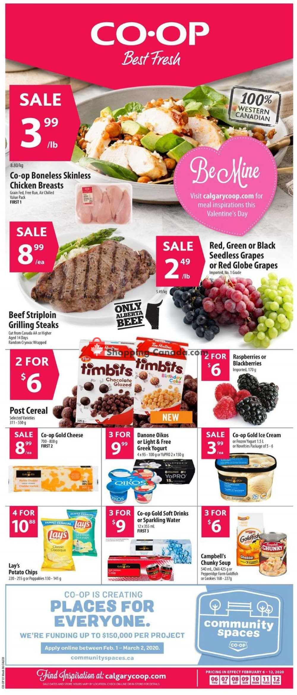 Flyer Calgary Co-op Canada - from Thursday February 6, 2020 to Wednesday February 12, 2020