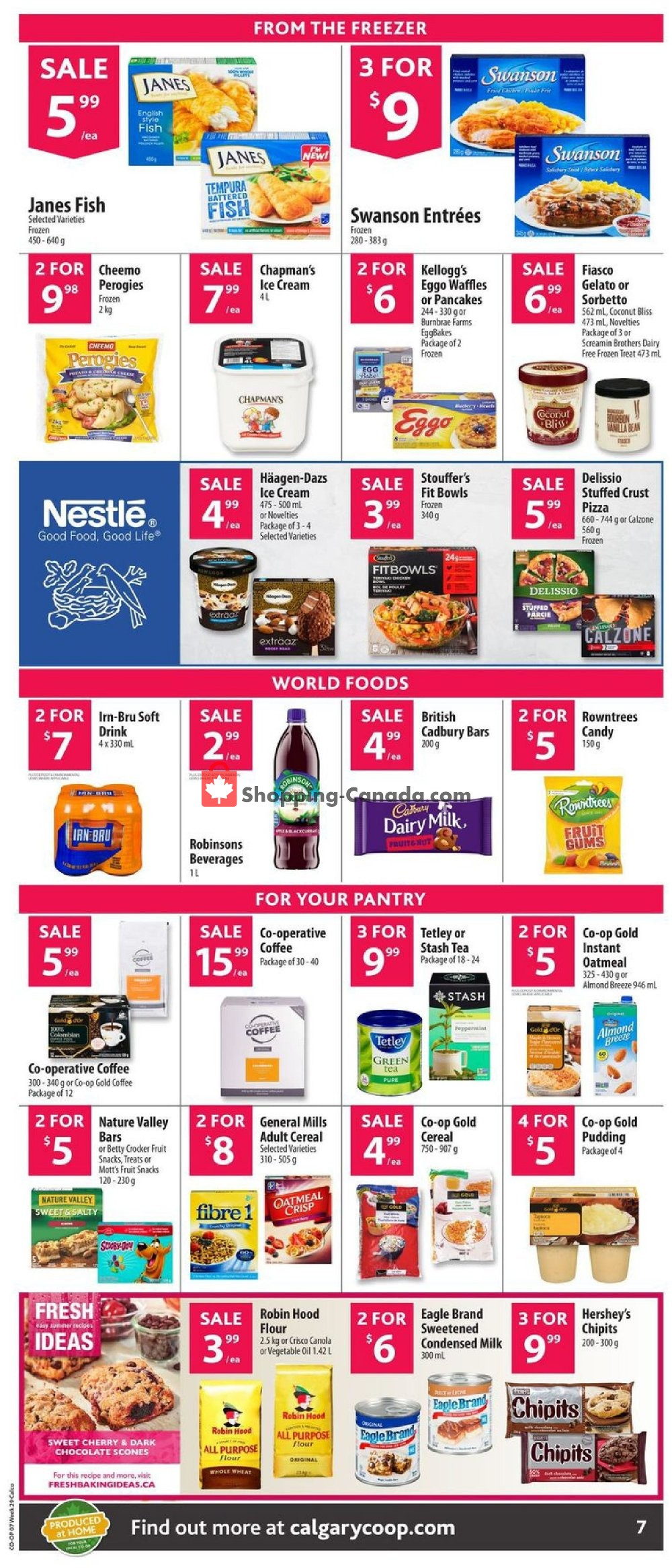 Flyer Calgary Co-op Canada - from Thursday July 11, 2019 to Wednesday July 17, 2019