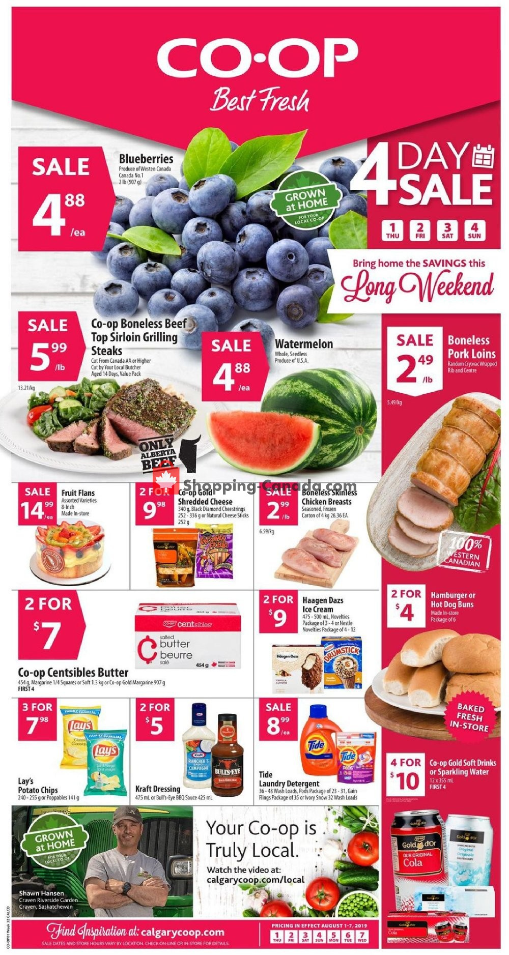 Flyer Calgary Co-op Canada - from Thursday August 1, 2019 to Wednesday August 7, 2019