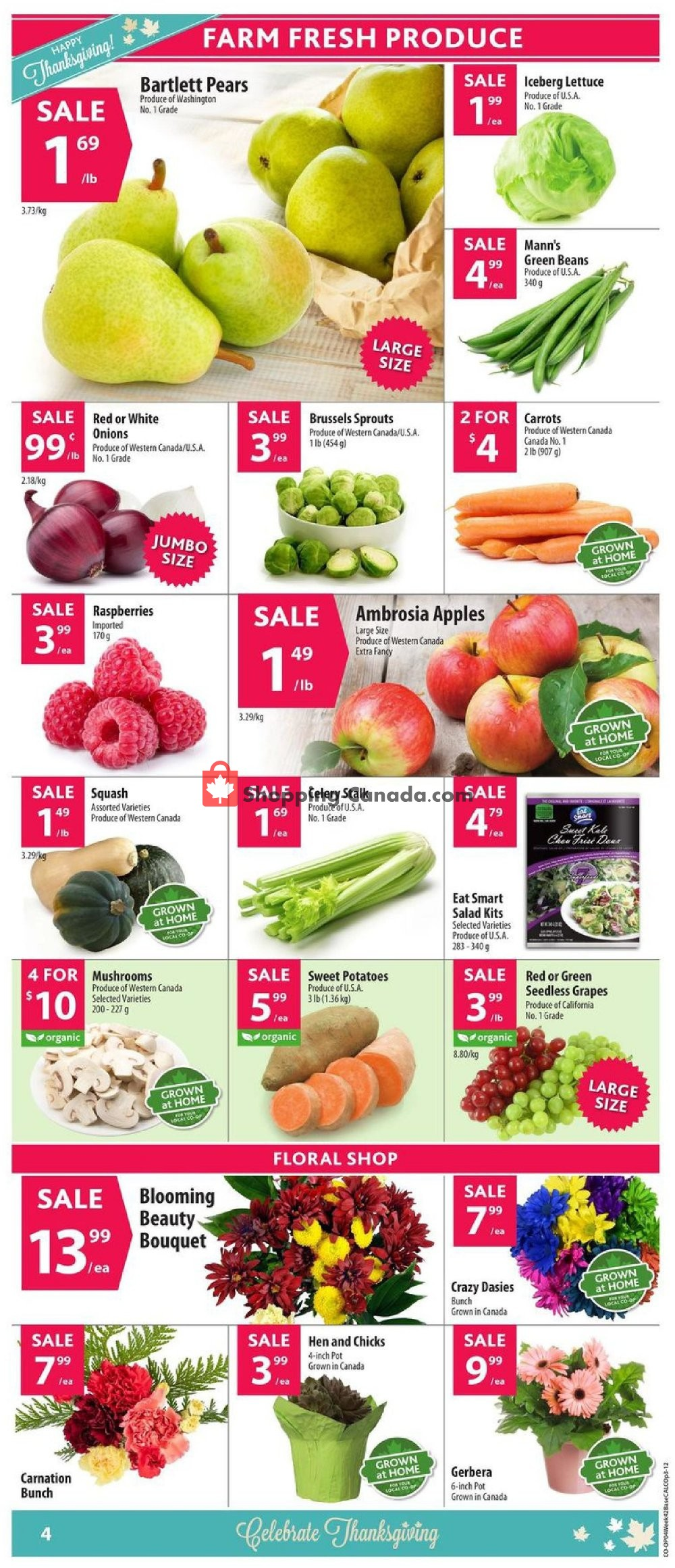 Flyer Calgary Co-op Canada - from Thursday October 10, 2019 to Wednesday October 16, 2019