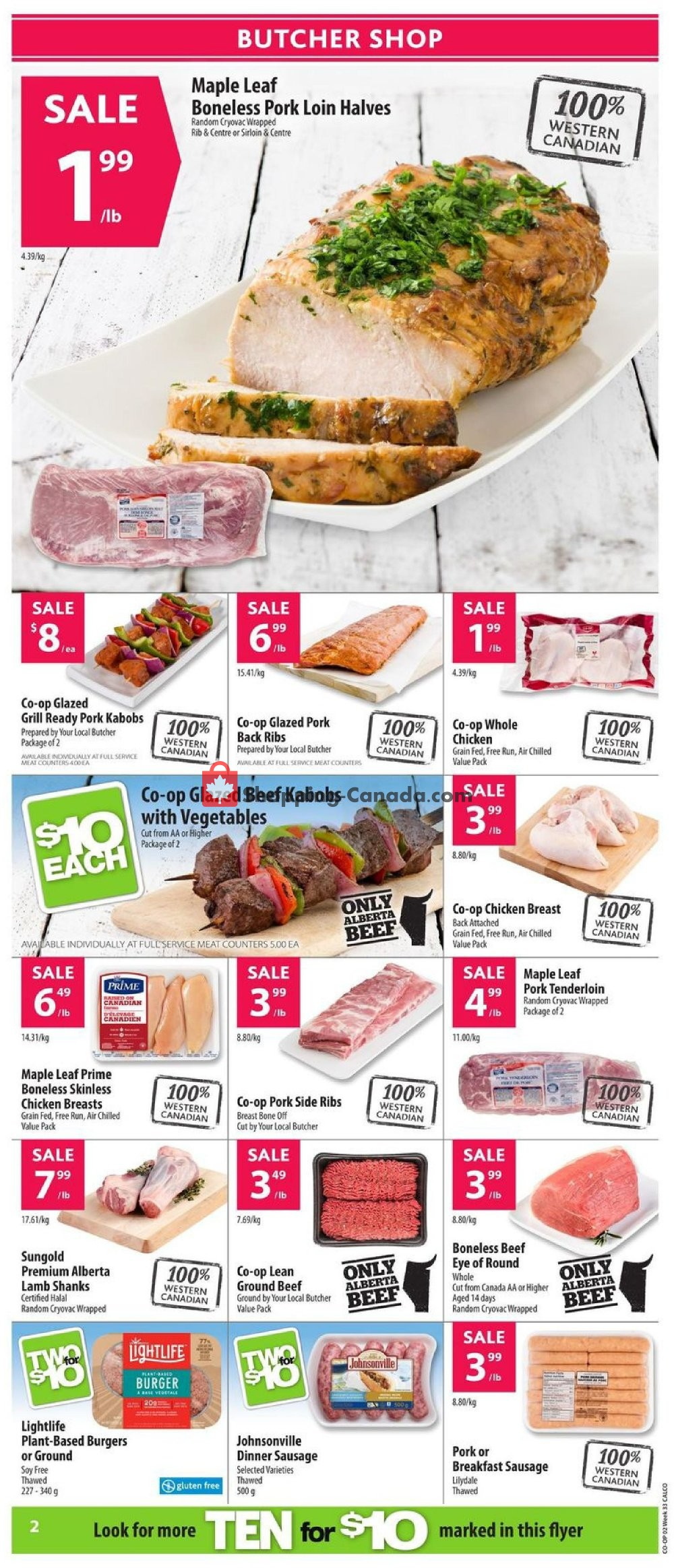 Flyer Calgary Co-op Canada - from Thursday August 8, 2019 to Wednesday August 14, 2019