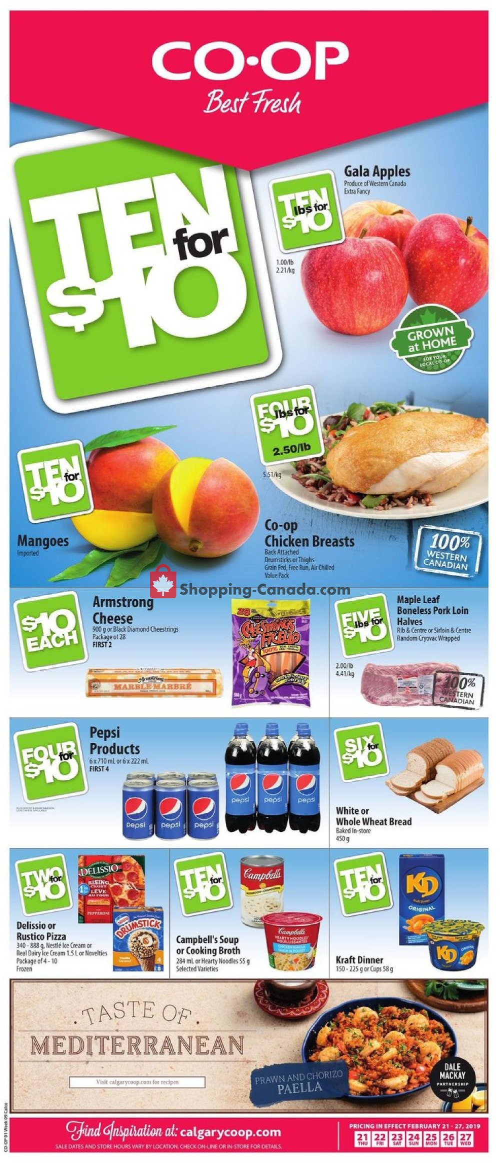 Flyer Calgary Co-op Canada - from Thursday February 21, 2019 to Wednesday February 27, 2019