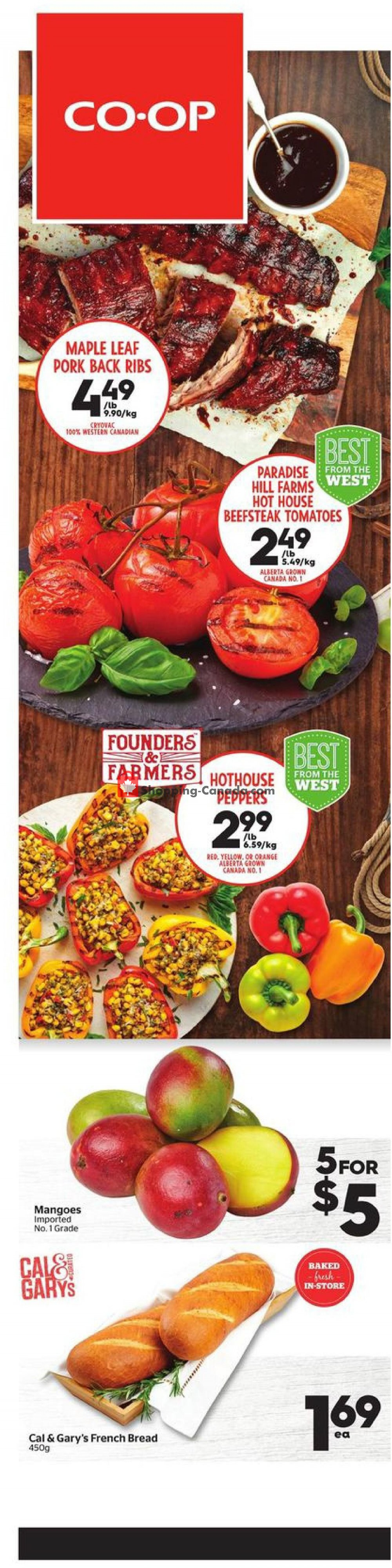 Flyer Calgary Co-op Canada - from Thursday July 9, 2020 to Wednesday July 15, 2020