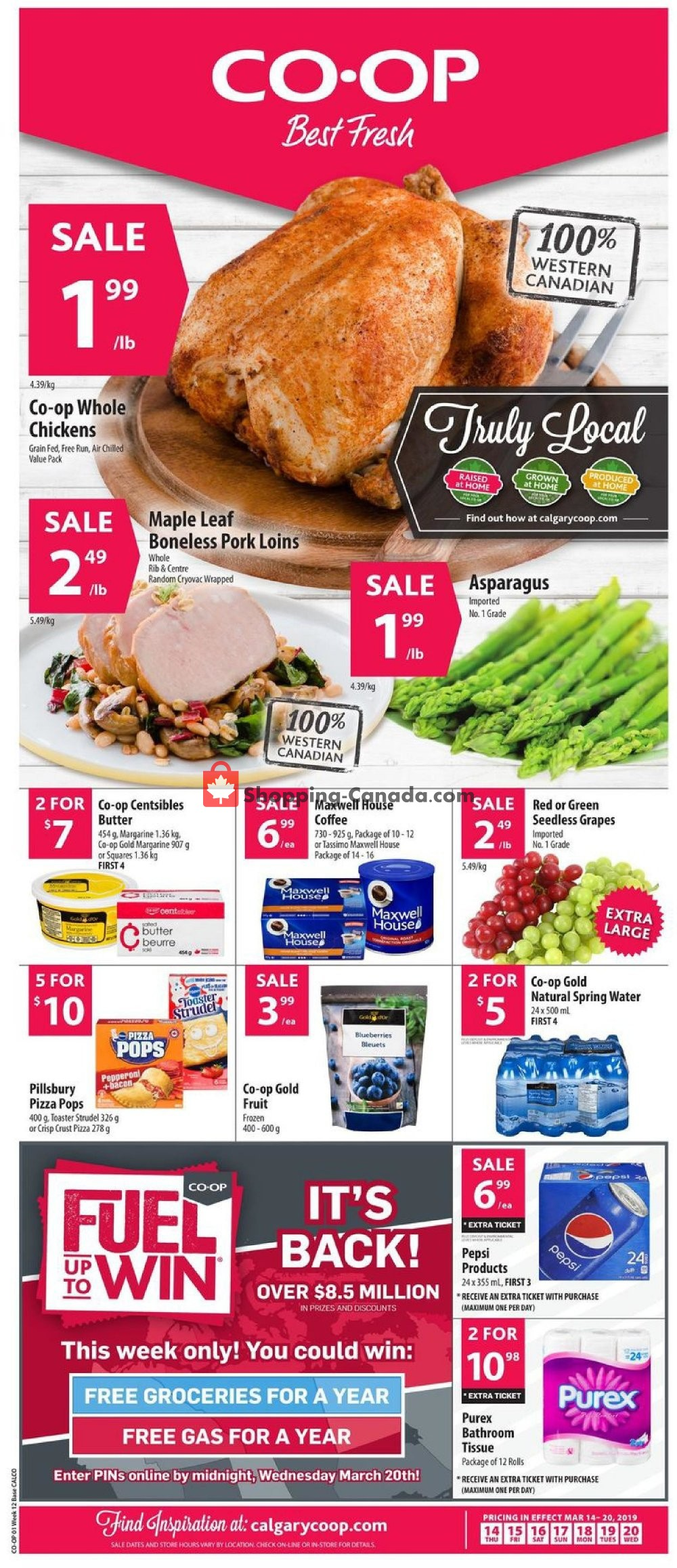 Flyer Calgary Co-op Canada - from Thursday March 14, 2019 to Wednesday March 20, 2019