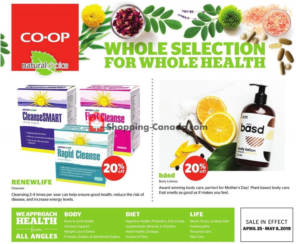 Flyer Calgary Co-op Canada - from Thursday April 25, 2019 to Wednesday May 8, 2019