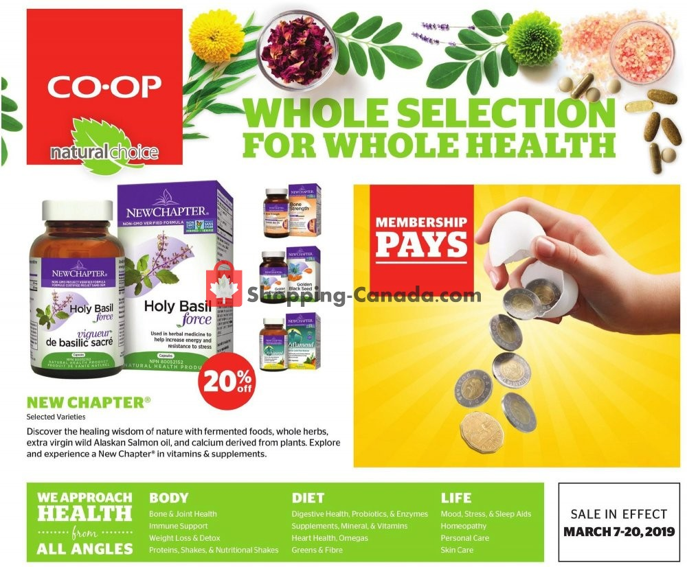 Flyer Calgary Co-op Canada - from Thursday March 7, 2019 to Wednesday March 20, 2019