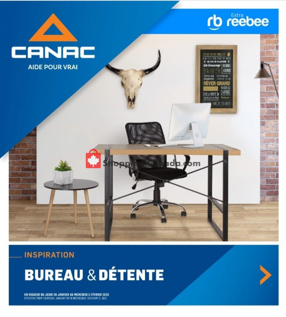 Flyer Canac Canada - from Thursday January 30, 2020 to Wednesday February 5, 2020