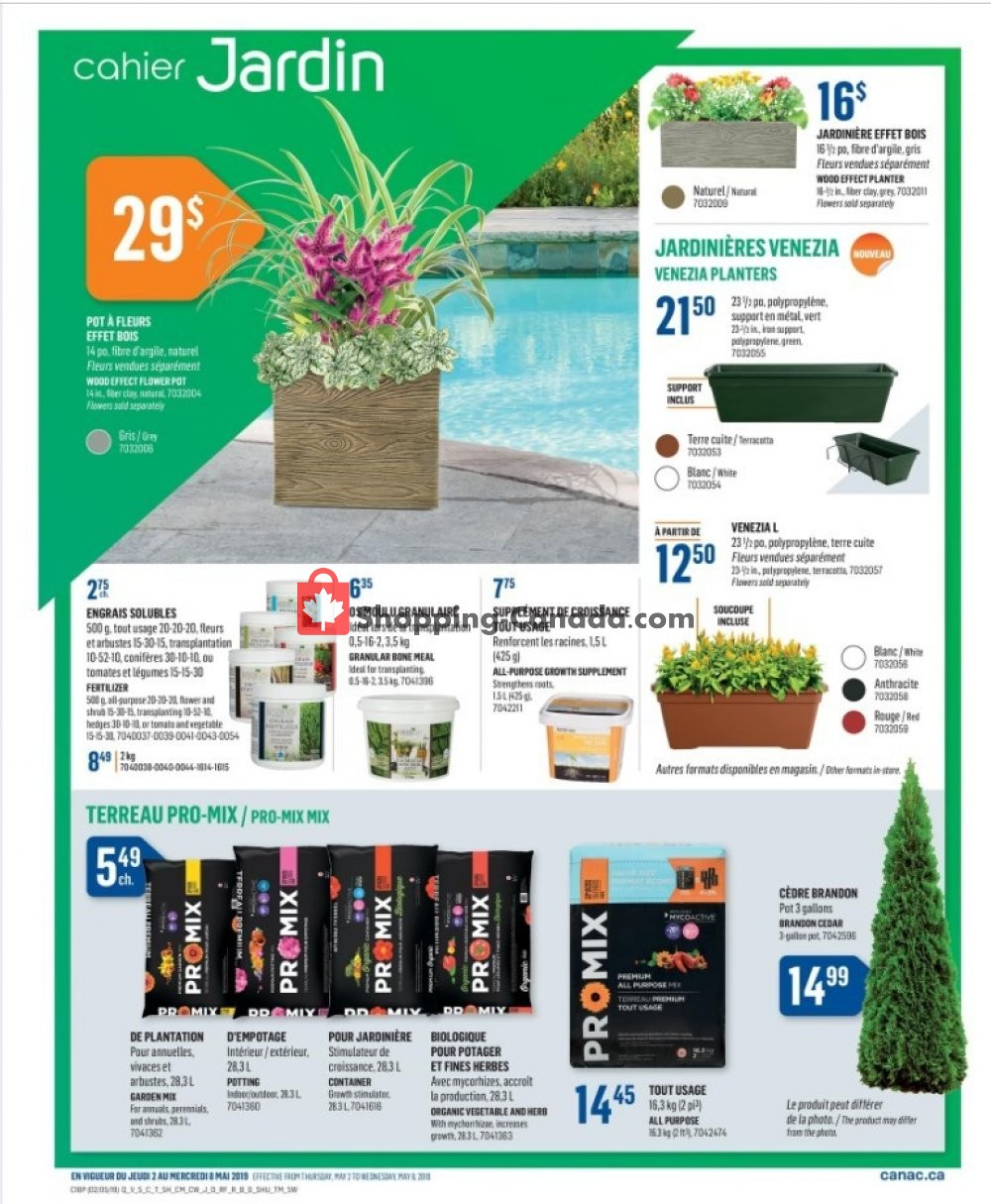 Flyer Canac Canada - from Thursday May 2, 2019 to Wednesday May 8, 2019