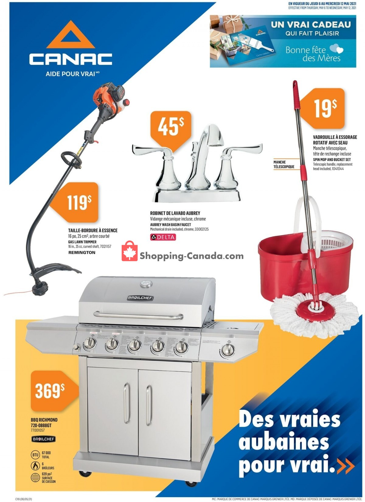 Flyer Canac Canada - from Thursday May 6, 2021 to Wednesday May 12, 2021
