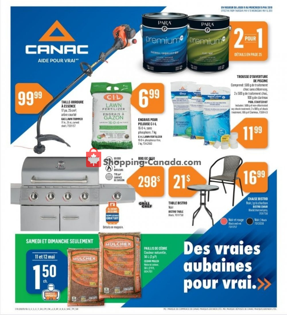 Flyer Canac Canada - from Thursday May 9, 2019 to Wednesday May 15, 2019