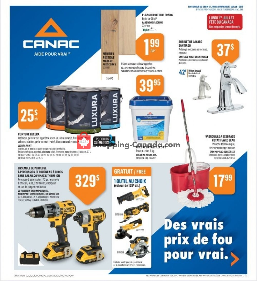Flyer Canac Canada - from Thursday June 27, 2019 to Wednesday July 3, 2019