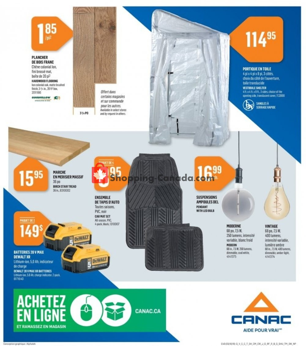 Flyer Canac Canada - from Thursday October 3, 2019 to Wednesday October 9, 2019