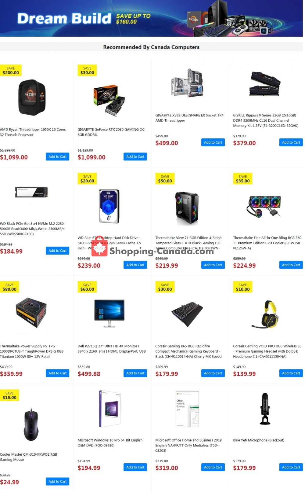 Flyer Canada Computers Canada - from Friday October 19, 2018 to Thursday October 25, 2018