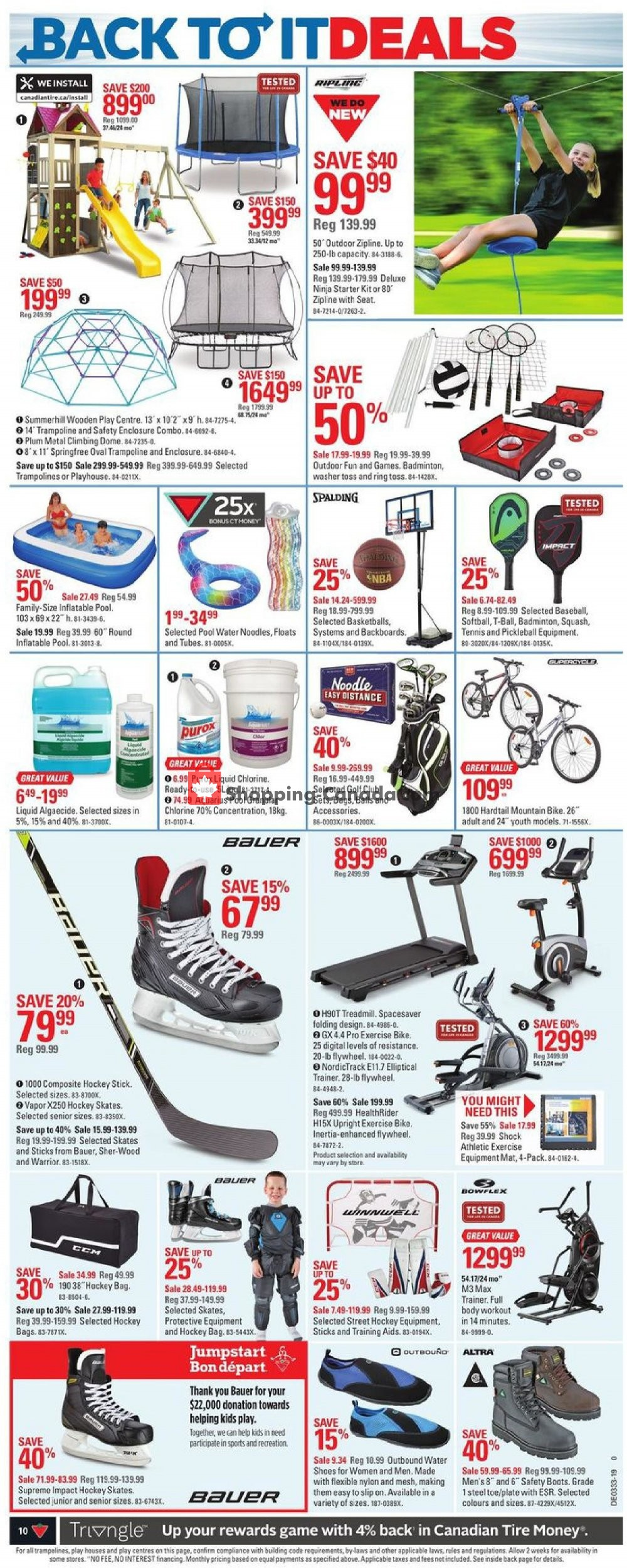 Flyer Canadian Tire Canada - from Thursday August 8, 2019 to Thursday August 15, 2019