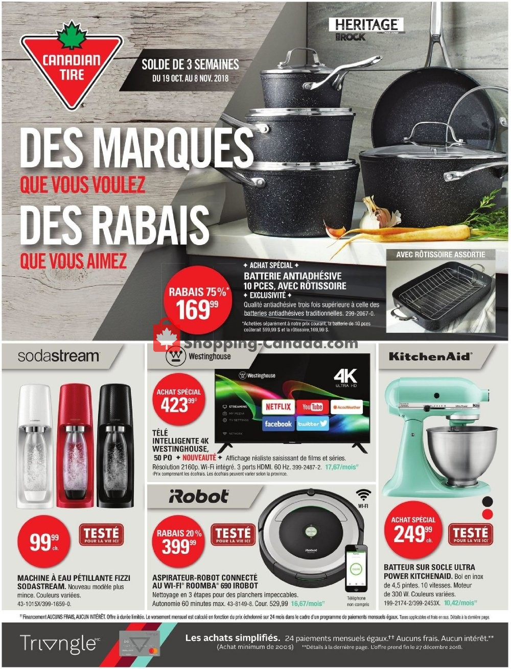 Flyer Canadian Tire Canada - from Friday October 19, 2018 to Thursday November 8, 2018