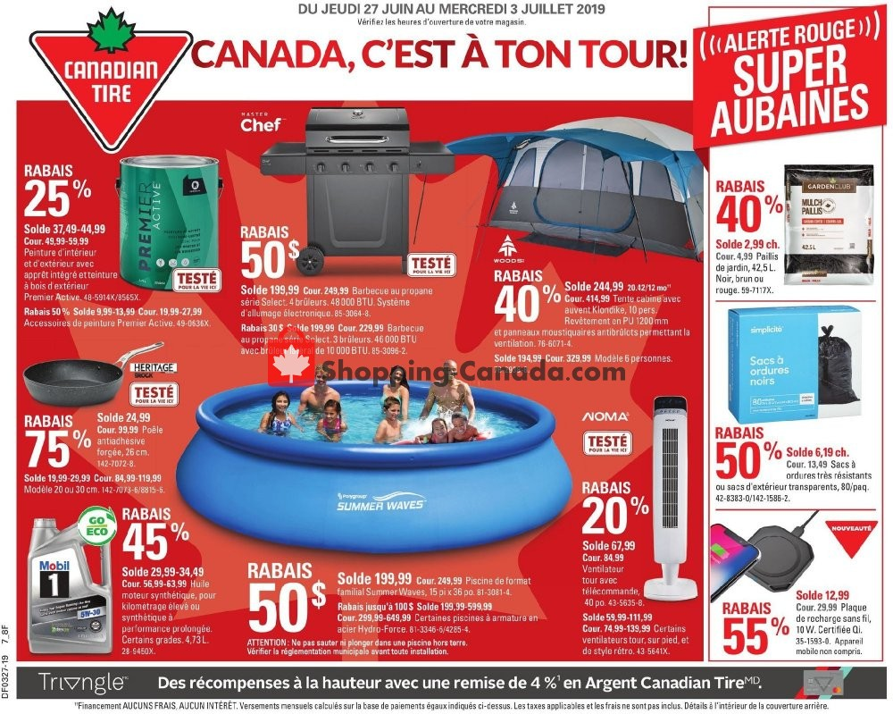 Flyer Canadian Tire Canada - from Thursday June 27, 2019 to Wednesday July 3, 2019