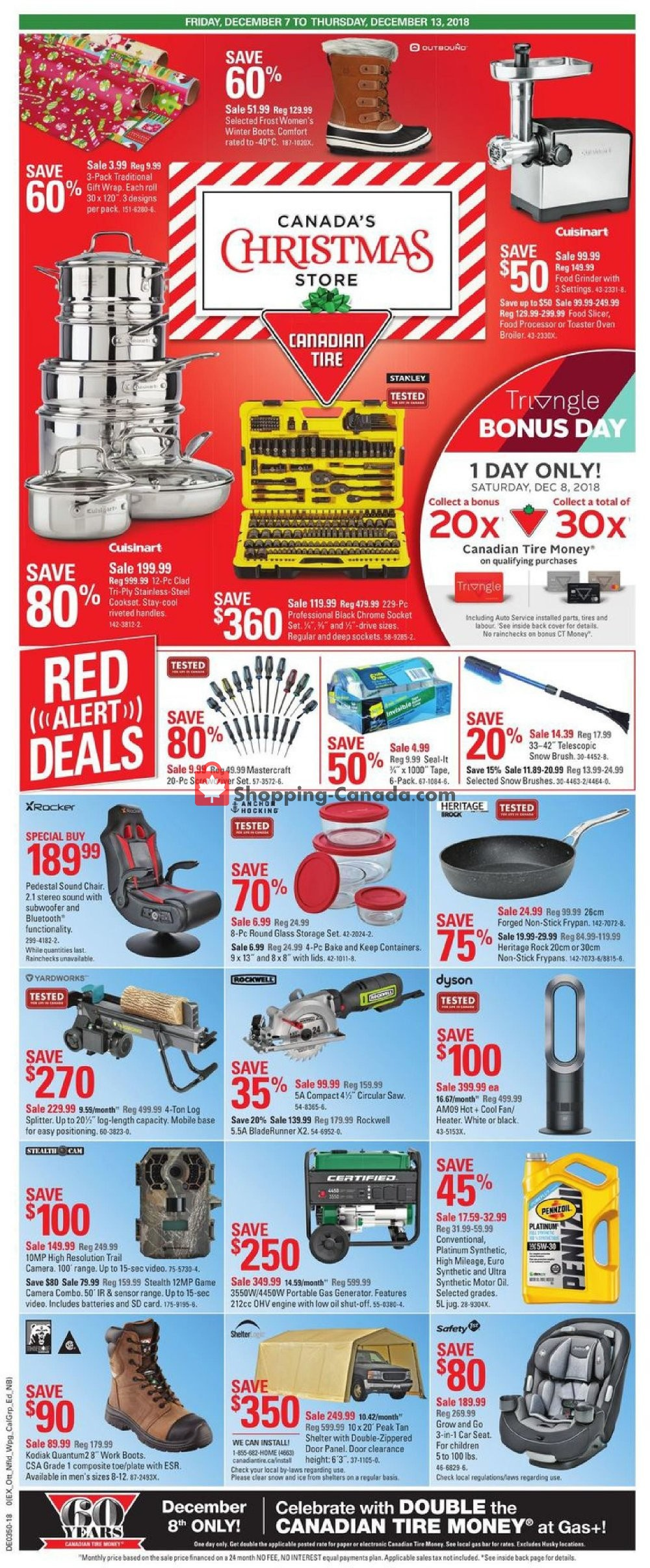 Flyer Canadian Tire Canada - from Friday December 7, 2018 to Thursday December 13, 2018