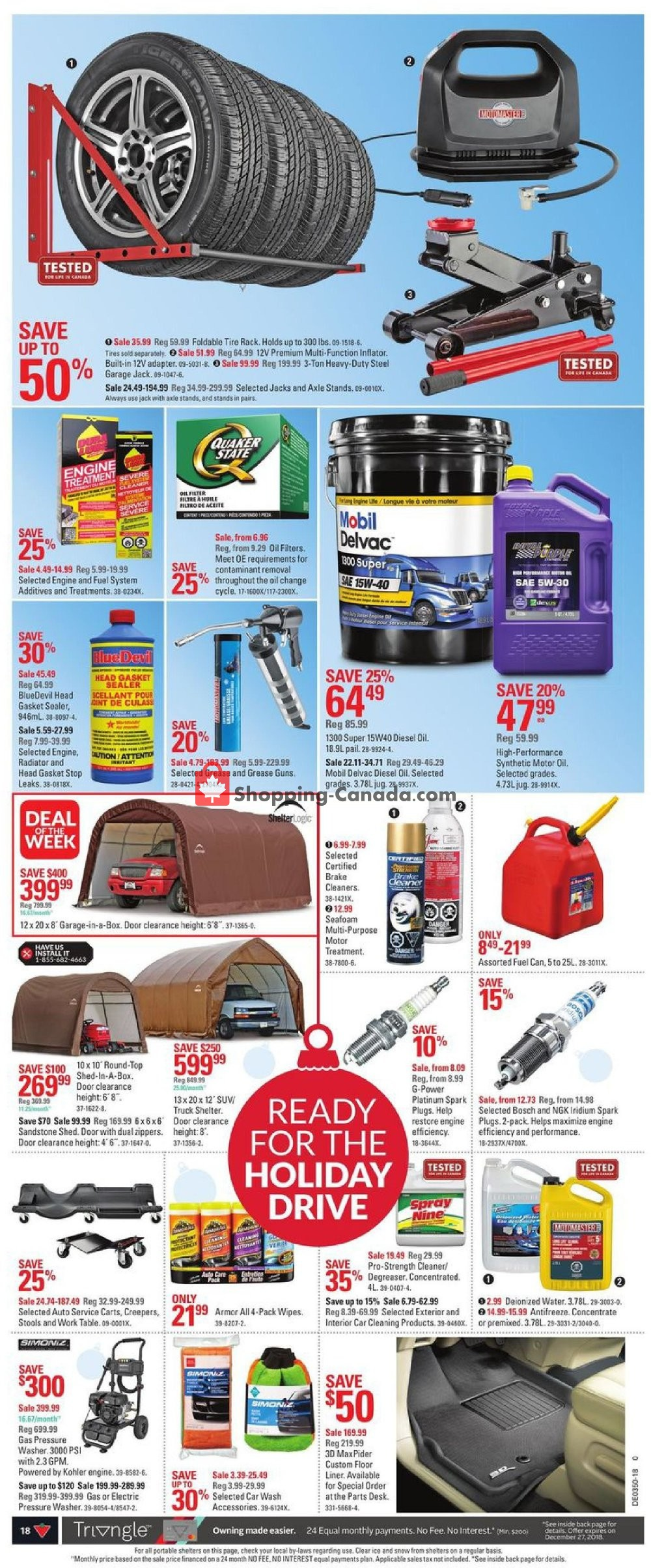 Flyer and weekly ads: Canadian Tire Canada - (Canadas Christmas