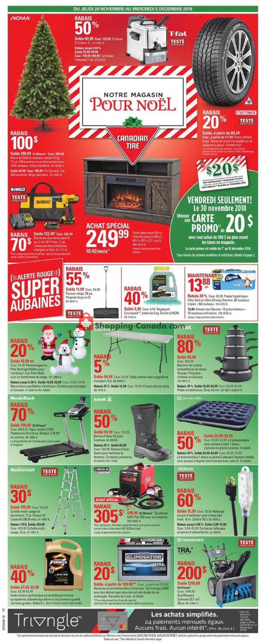 Flyer Canadian Tire Canada - from Thursday November 29, 2018 to Wednesday December 5, 2018