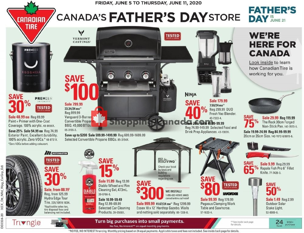 Flyer Canadian Tire Canada - from Friday June 5, 2020 to Thursday June 11, 2020