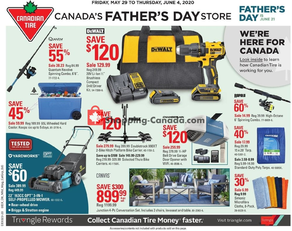 Flyer Canadian Tire Canada - from Friday May 29, 2020 to Thursday June 4, 2020