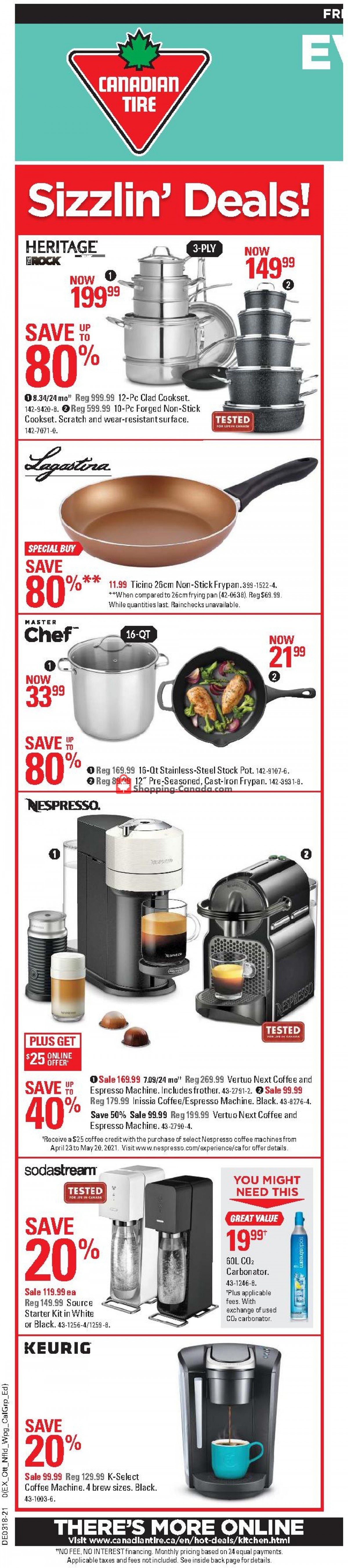 Flyer Canadian Tire Canada - from Friday April 30, 2021 to Thursday May 6, 2021