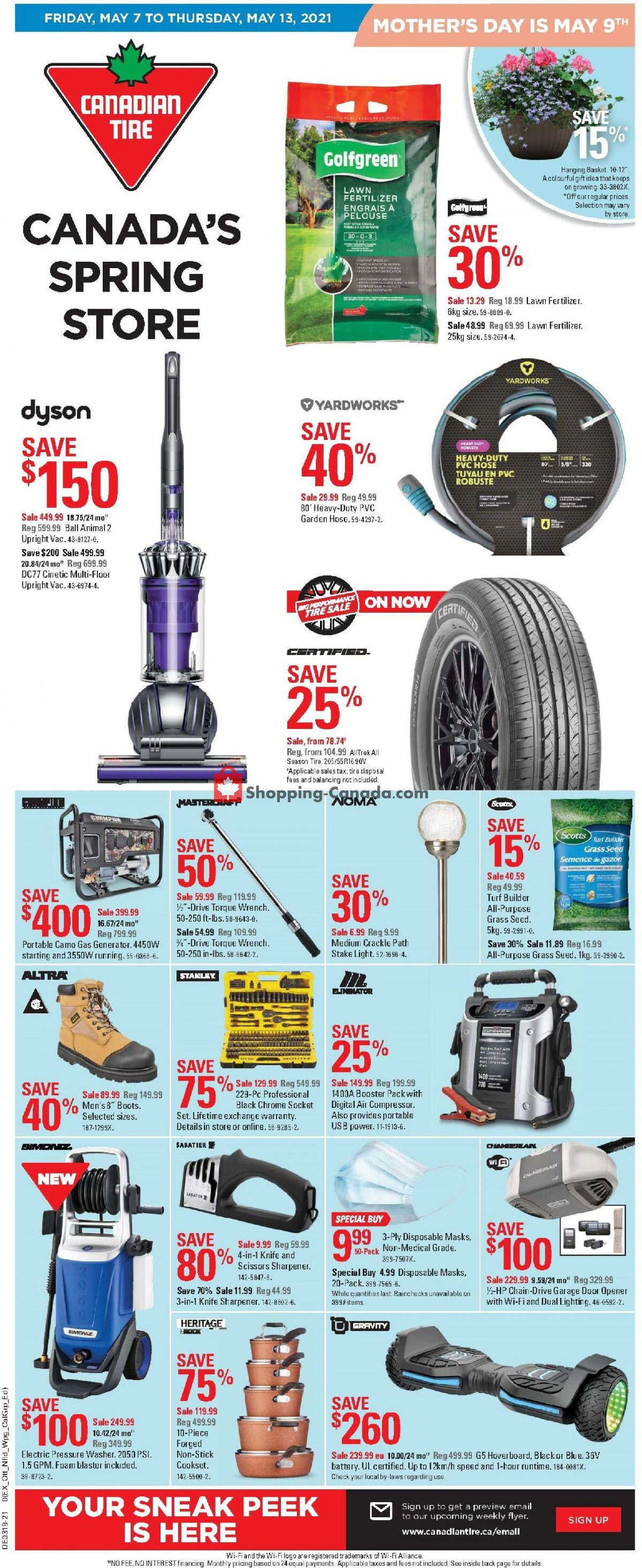 Flyer Canadian Tire Canada - from Friday May 7, 2021 to Thursday May 13, 2021