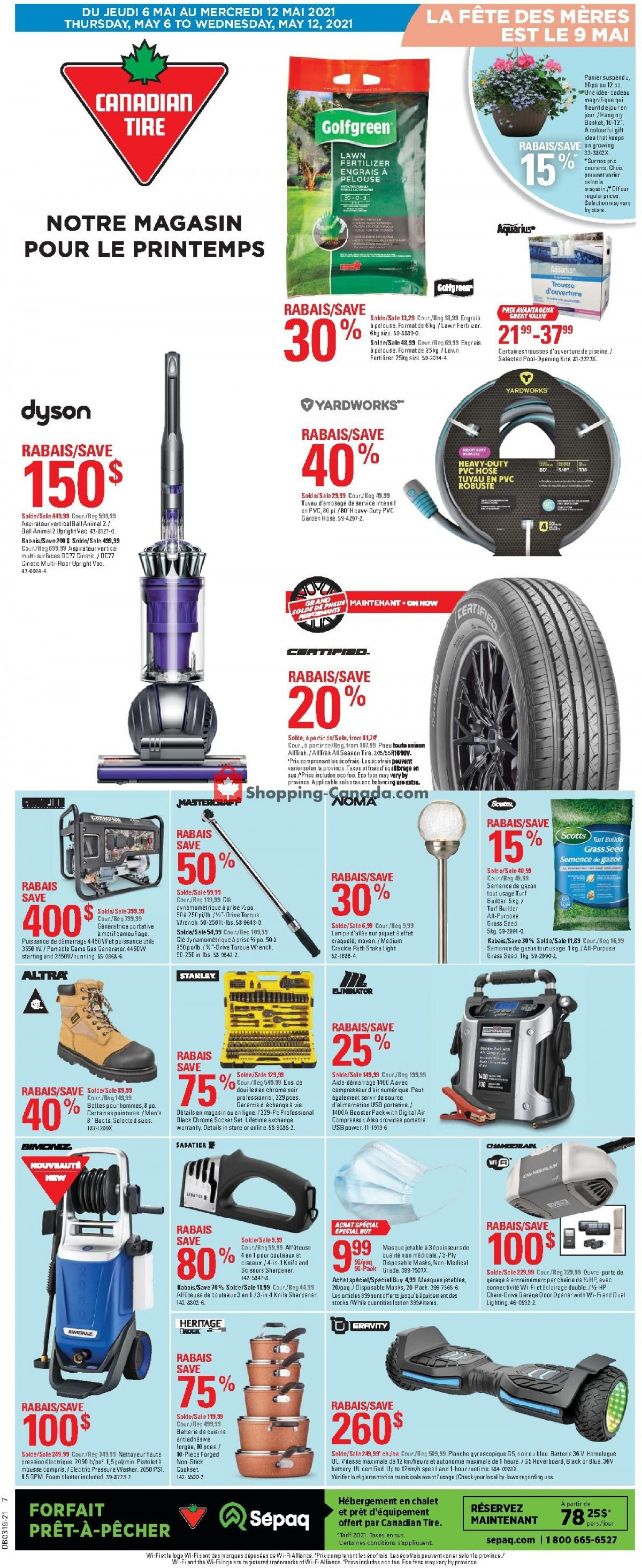 Flyer Canadian Tire Canada - from Thursday May 6, 2021 to Wednesday May 12, 2021