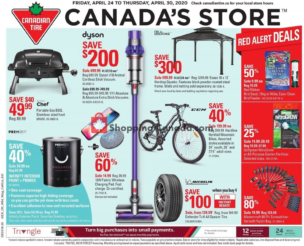 Flyer Canadian Tire Canada - from Friday April 24, 2020 to Thursday April 30, 2020