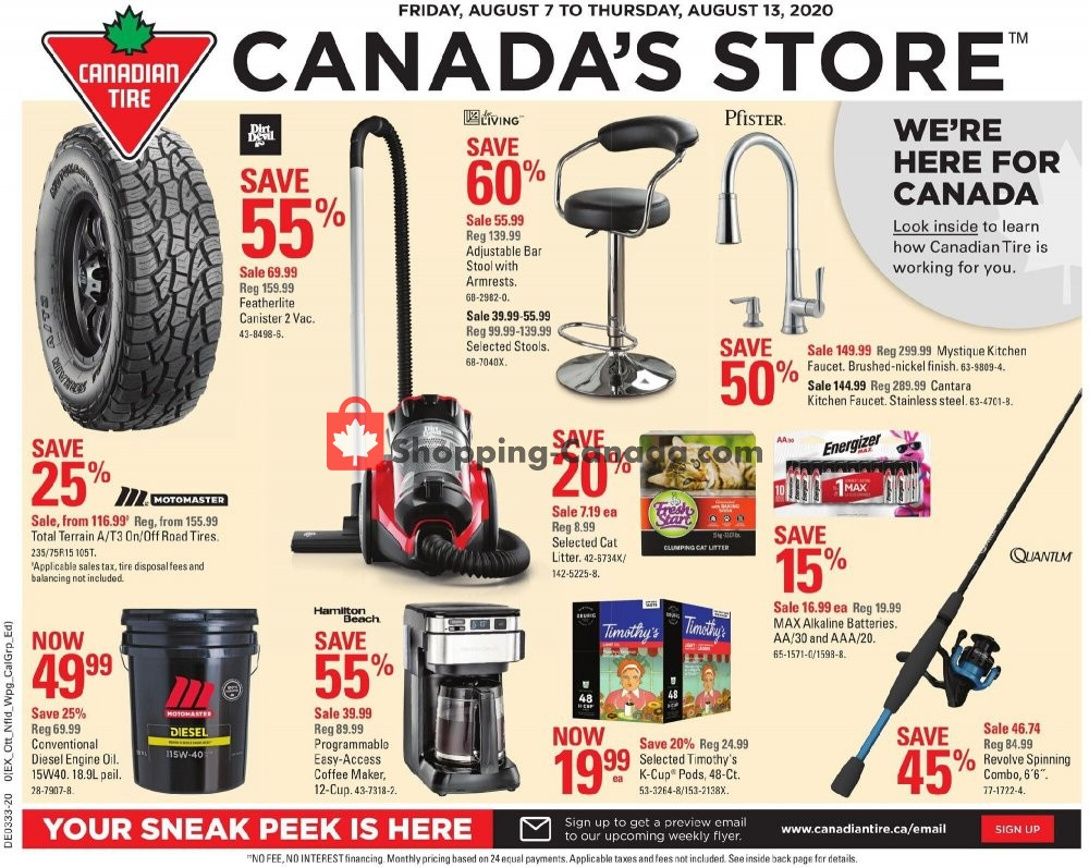 Flyer Canadian Tire Canada - from Friday August 7, 2020 to Thursday August 13, 2020