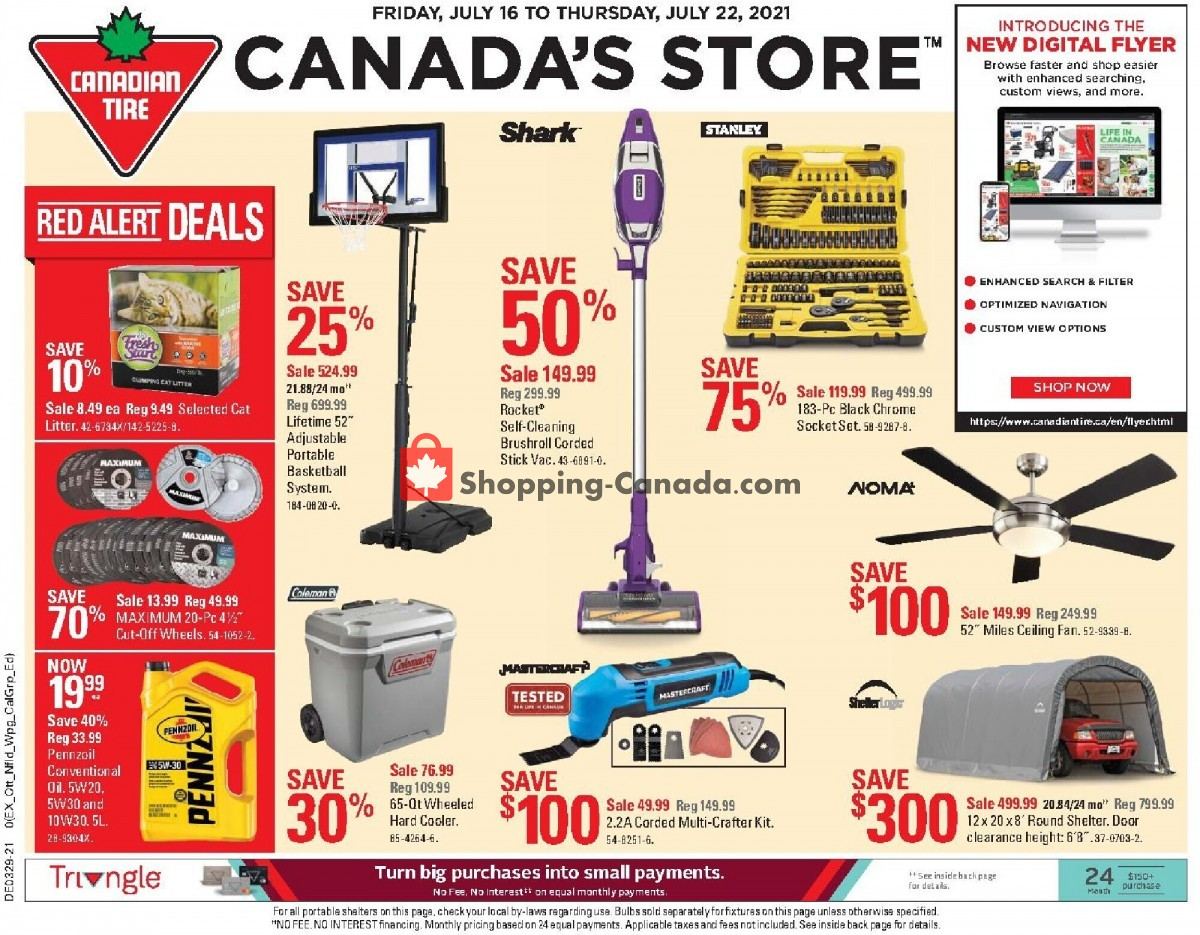 Flyer Canadian Tire Canada - from Friday July 16, 2021 to Thursday July 22, 2021