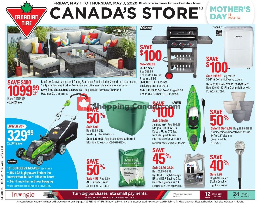 Flyer Canadian Tire Canada - from Friday May 1, 2020 to Thursday May 7, 2020