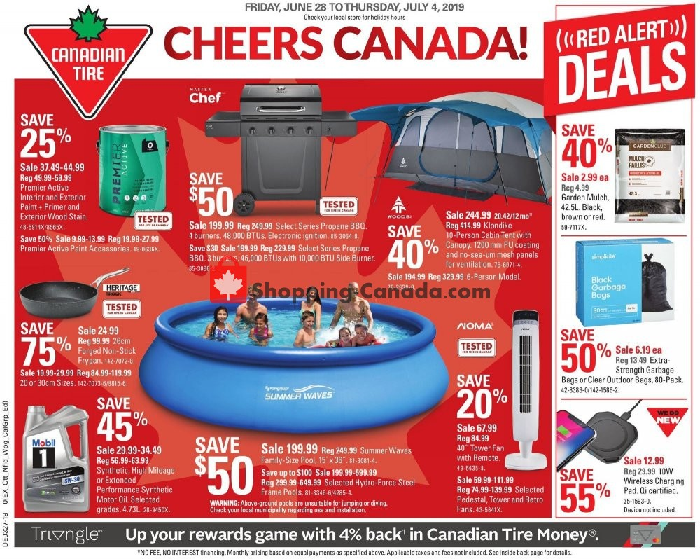 Flyer Canadian Tire Canada - from Friday June 28, 2019 to Thursday July 4, 2019