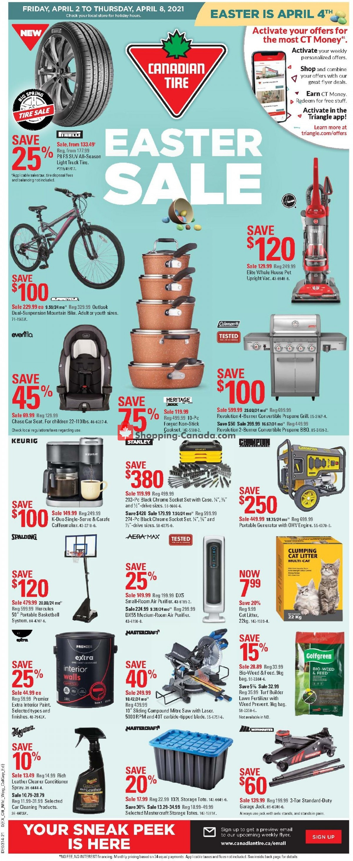 Flyer Canadian Tire Canada - from Friday April 2, 2021 to Thursday April 8, 2021