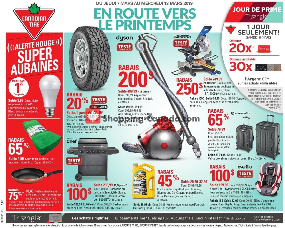 Flyer Canadian Tire Canada - from Thursday March 7, 2019 to Wednesday March 13, 2019