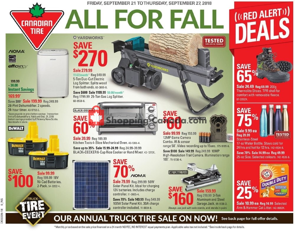 Flyer Canadian Tire Canada - from Friday September 21, 2018 to Thursday September 27, 2018