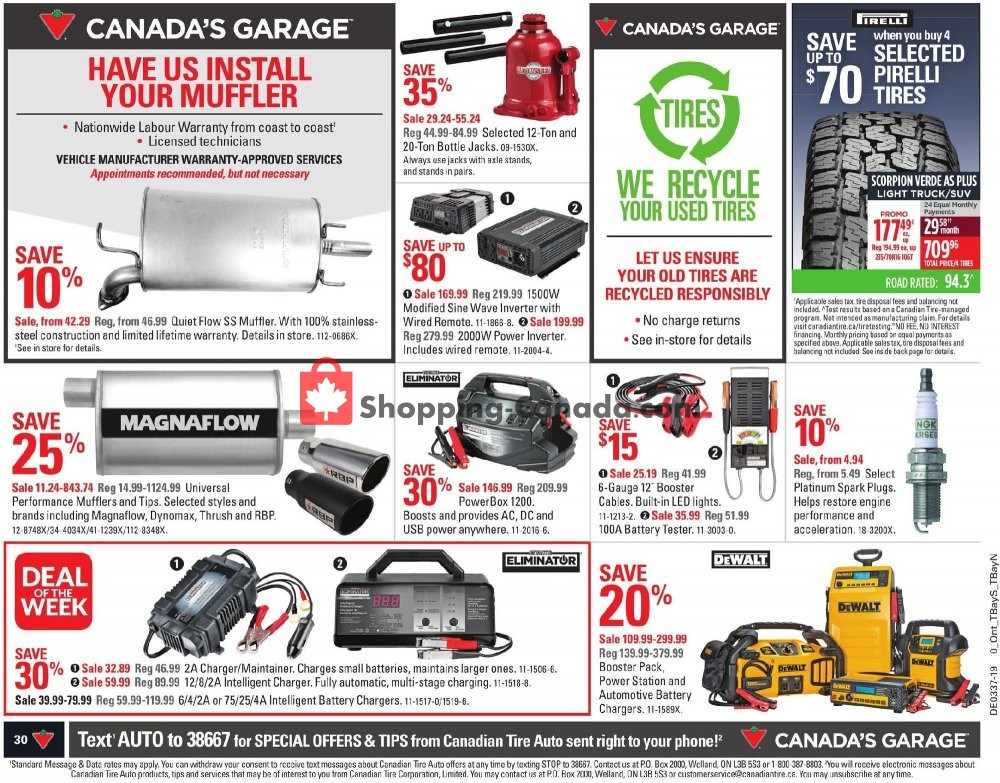 Flyer Canadian Tire Canada - from Friday September 6, 2019 to Thursday September 12, 2019