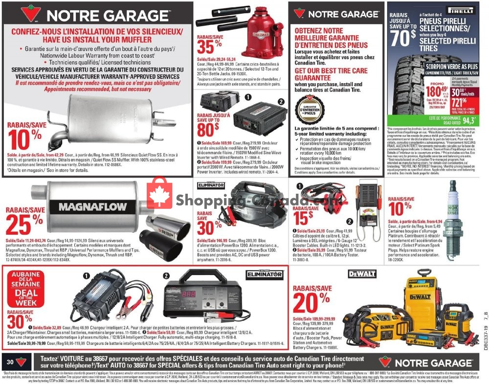 Flyer Canadian Tire Canada - from Thursday September 5, 2019 to Wednesday September 11, 2019