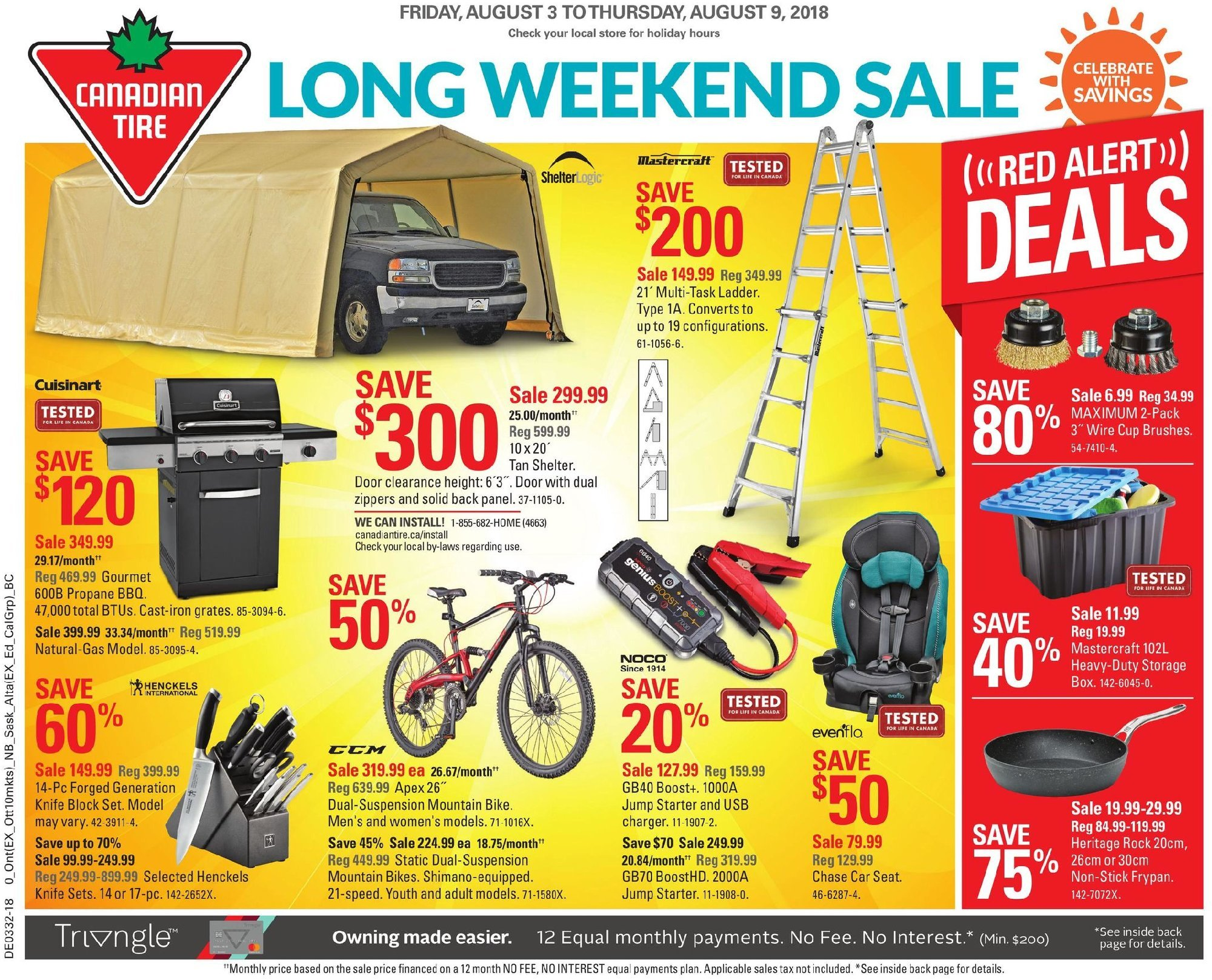 Canadian Tire Canada Flyer Long Weekend Sales August 3 August 9 2018 Shopping Canada