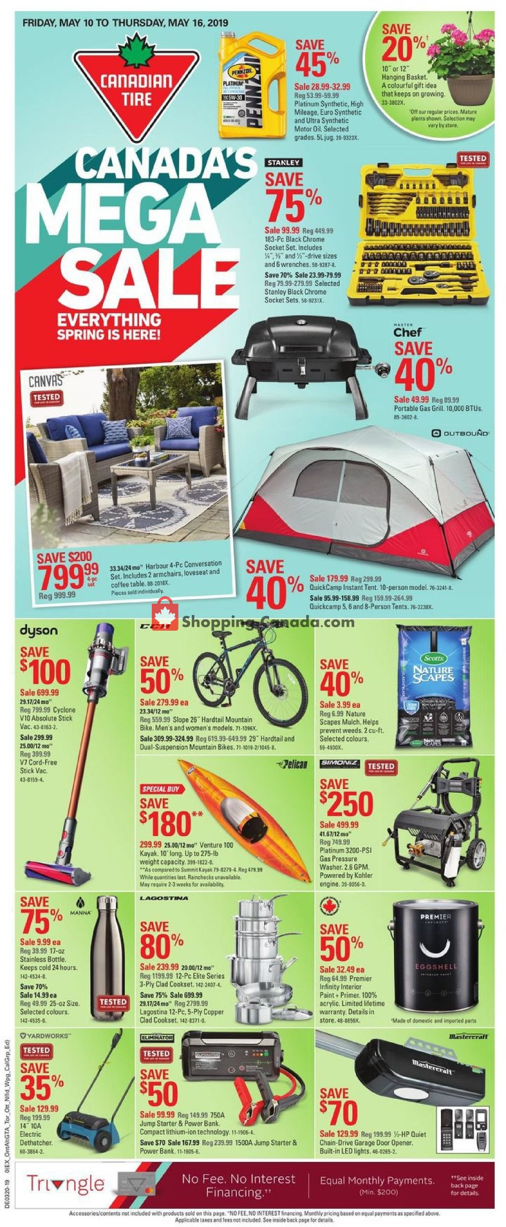 Flyer Canadian Tire Canada - from Friday May 10, 2019 to Thursday May 16, 2019